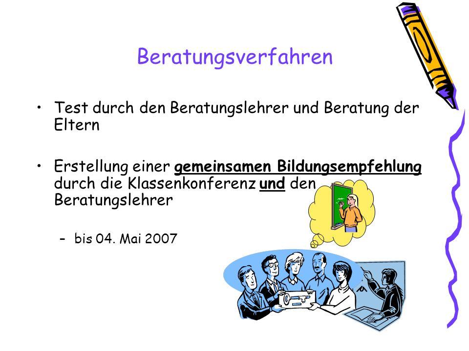 Aufnahmeprüfung –Anmeldung durch die Eltern bis 18.