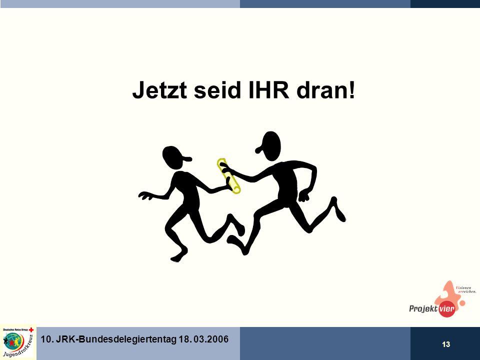 13 10. JRK-Bundesdelegiertentag 18. 03.2006 Jetzt seid IHR dran!