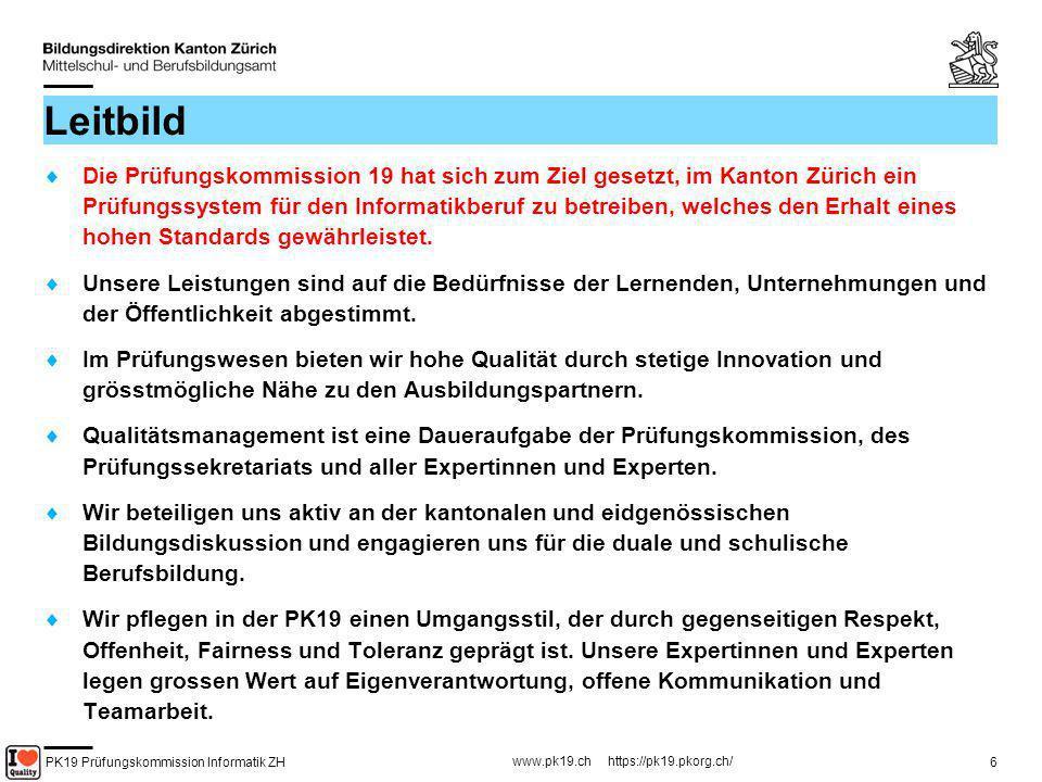 PK19 Prüfungskommission Informatik ZH www.pk19.ch https://pk19.pkorg.ch/ 47 Erstellen von Kriterien (8) Kriterien sollen möglichst......