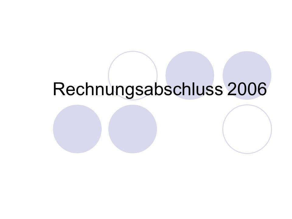 Rechnungsabschluss 2006