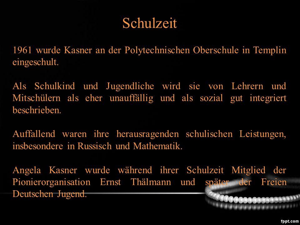 Kasner hatte sich bereits während ihrer Schulzeit für das Studium der Physik an der damaligen Karl-Marx-Universität entschieden und zog 1973 nach Leipzig.