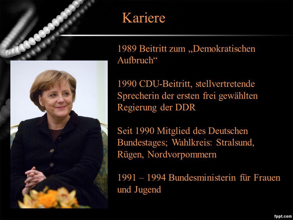 Kariere 1989 Beitritt zum Demokratischen Aufbruch 1990 CDU-Beitritt, stellvertretende Sprecherin der ersten frei gewählten Regierung der DDR Seit 1990 Mitglied des Deutschen Bundestages; Wahlkreis: Stralsund, Rügen, Nordvorpommern 1991 – 1994 Bundesministerin für Frauen und Jugend