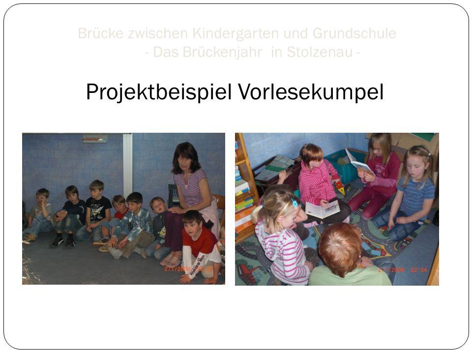 Brücke zwischen Kindergarten und Grundschule - Das Brückenjahr in Stolzenau - Projektbeispiel Vorlesekumpel