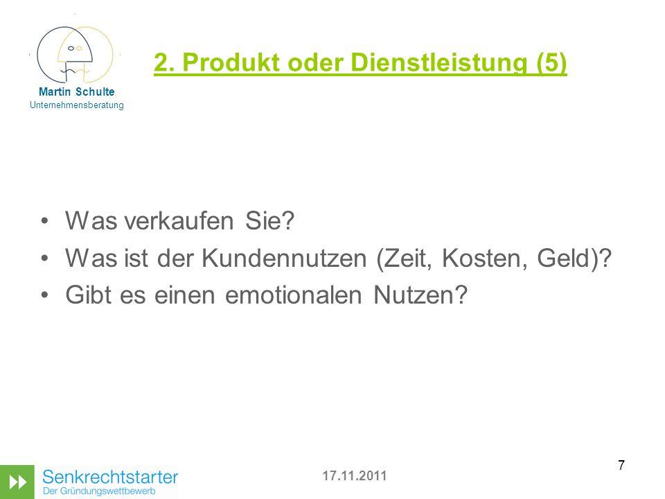 7 2.Produkt oder Dienstleistung (5) Was verkaufen Sie.