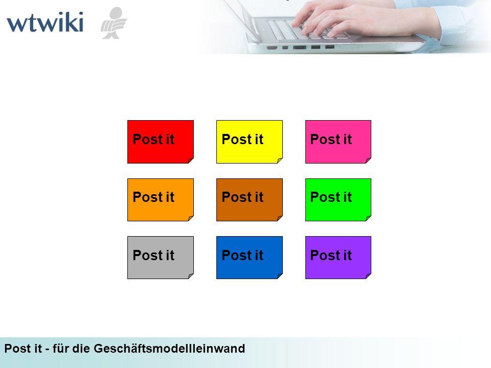 Post it Post it - für die Geschäftsmodellleinwand