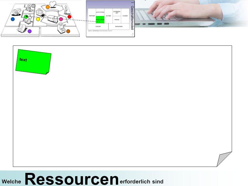 Ressourcen erforderlich sindWelche text