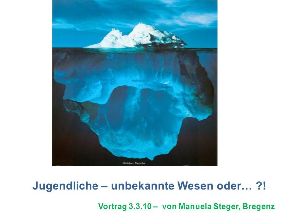 Jugendliche – unbekannte Wesen oder… ?! Vortrag 3.3.10 – von Manuela Steger, Bregenz
