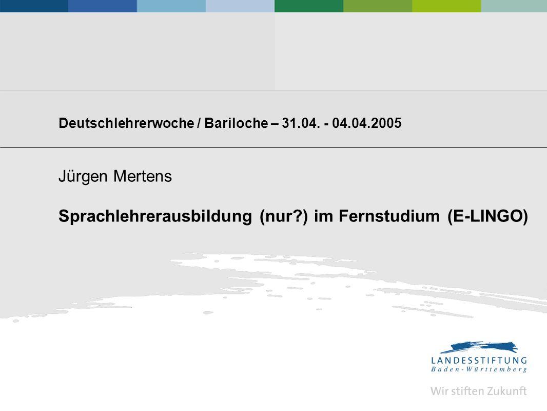 Deutschlehrerwoche / Bariloche – 31.04.