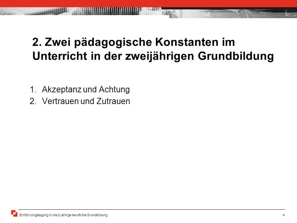 Einführungstagung in die 2-jährige berufliche Grundbildung4 2.