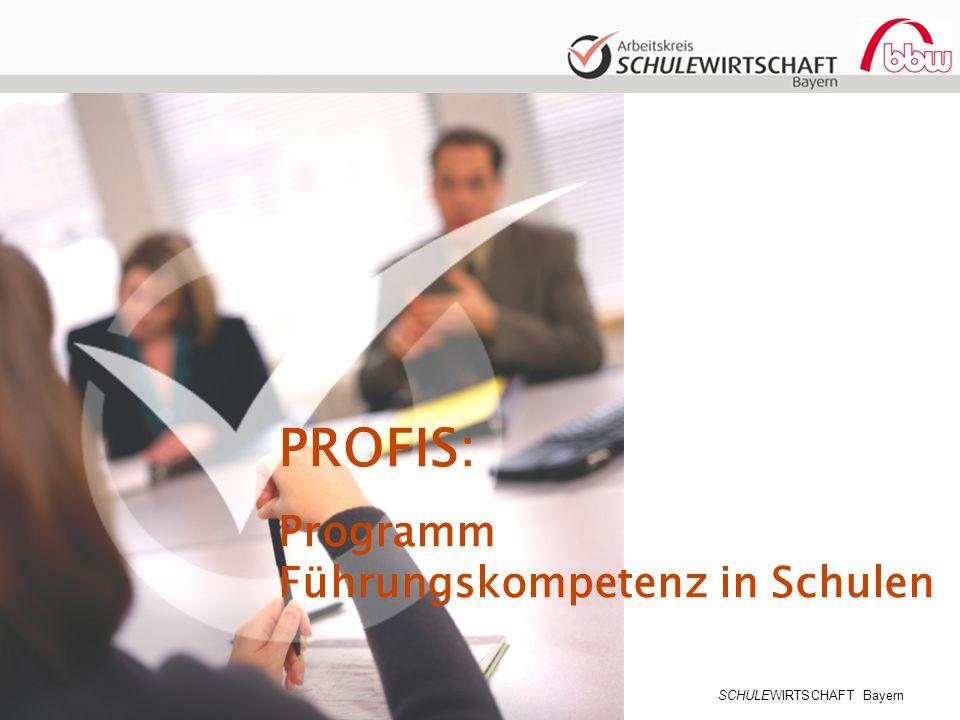 SCHULEWIRTSCHAFT Bayern PROFIS: Programm Führungskompetenz in Schulen