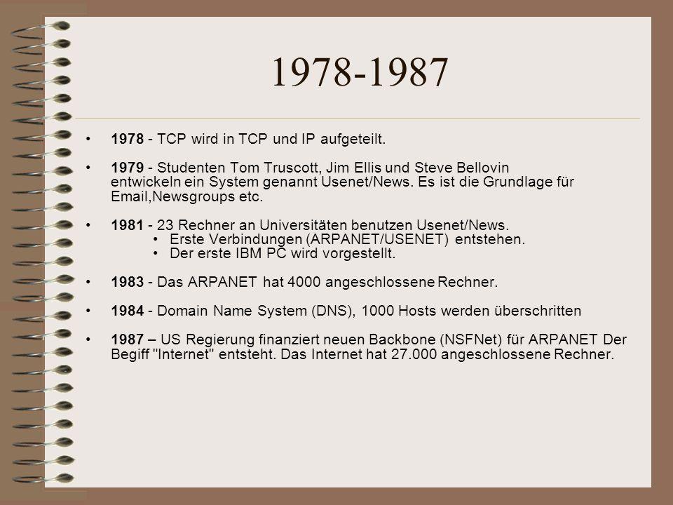 1988-1995 1988 – R.Morris jr.Setzt im November den ersten Wurm aus.