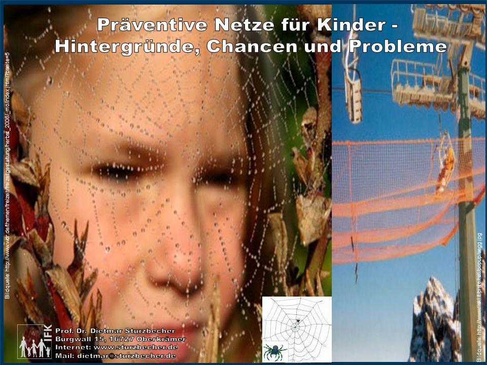 Präventive Netze für Kinder - Hintergründe, Chancen und Probleme Foliennummer: 1 Bildquelle: http://www.wdr.de/themen/freizeit/freizeitgestaltung/herbst_2006/_mo/index.jhtml?bseite=5 Bildquelle: http://www.liski.it/piste/reti/popup/segg.jpg