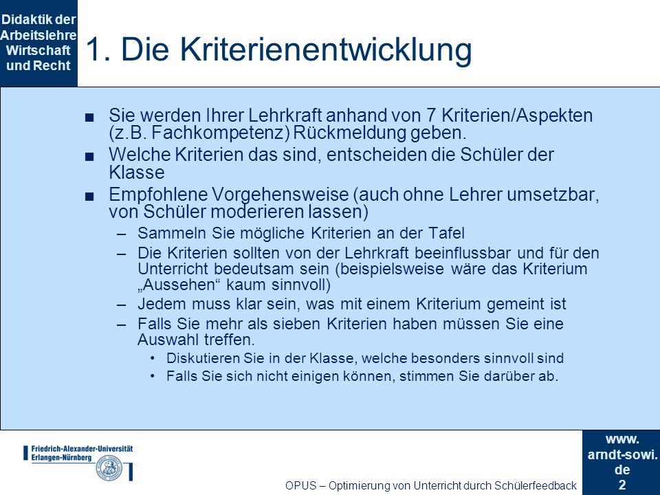 2 Didaktik der Arbeitslehre Wirtschaft und Recht www.