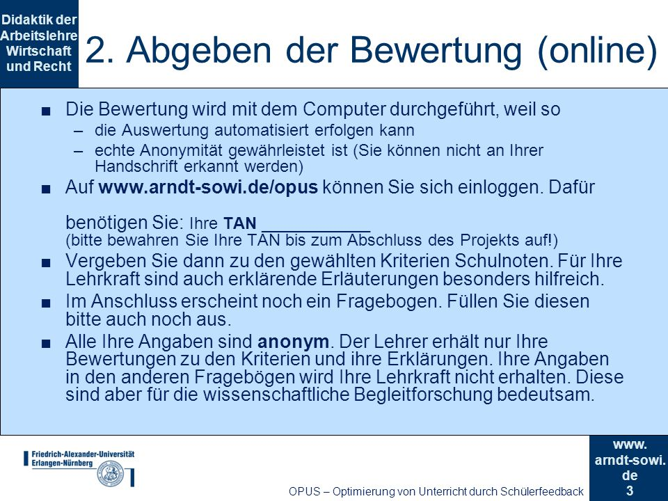 3 Didaktik der Arbeitslehre Wirtschaft und Recht www.