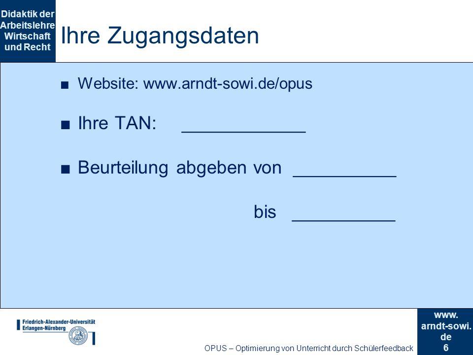 6 Didaktik der Arbeitslehre Wirtschaft und Recht www.