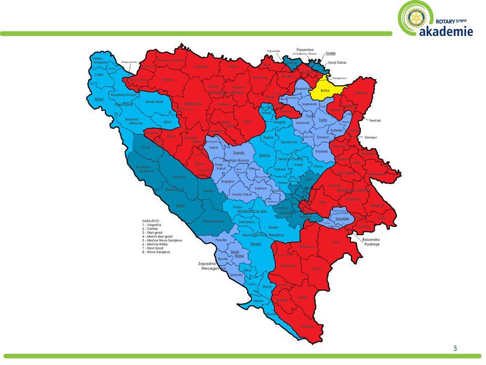 4 Wien-Bihać: 511 km Wien-Sarajevo: 782 km Wien-Mostar: 922 km Wien-Tuzla: 650 km Rotary Clubs: Banja Luka (2) Bihać Bijeljina Brčko Doboj Lukavac Mostar Sarajevo (2) Srebrenica Tuzla (3)