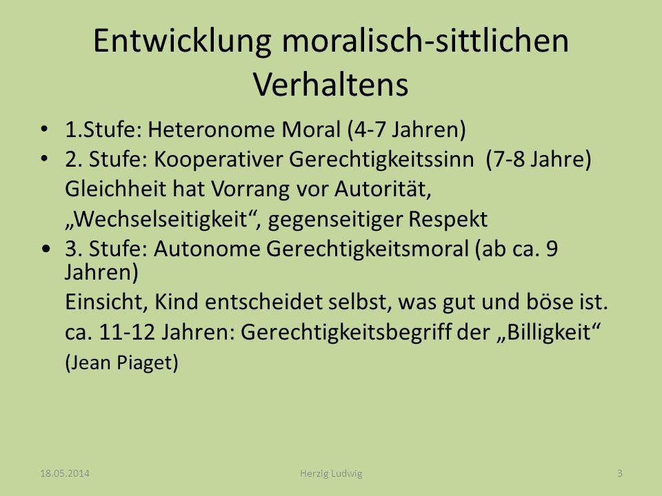 Entwicklung von Begründungen normativer Urteile (L.Kohlberg) I.