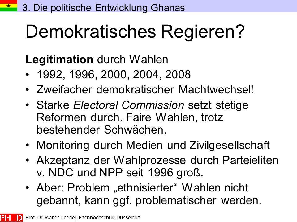 Prof. Dr. Walter Eberlei, Fachhochschule Düsseldorf Demokratisches Regieren? Legitimation durch Wahlen 1992, 1996, 2000, 2004, 2008 Zweifacher demokra