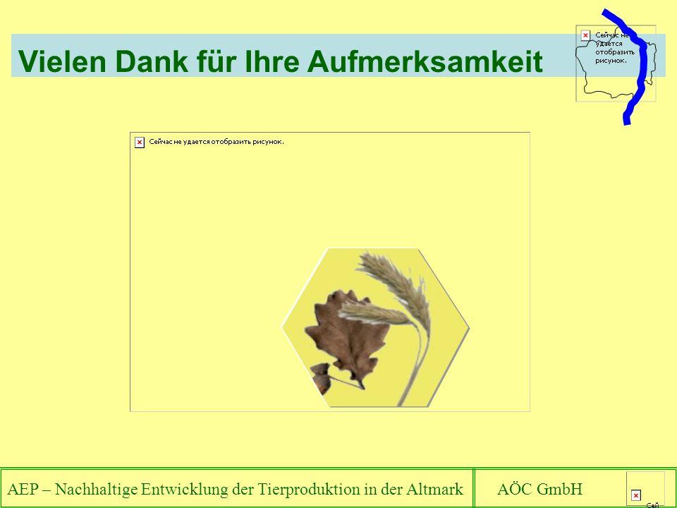 AEP – Nachhaltige Entwicklung der Tierproduktion in der Altmark AÖC GmbH Vielen Dank für Ihre Aufmerksamkeit