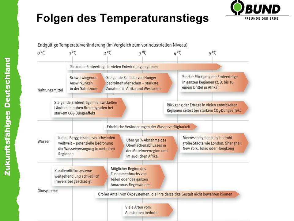 Zukunftsfähiges Deutschland Folgen des Temperaturanstiegs