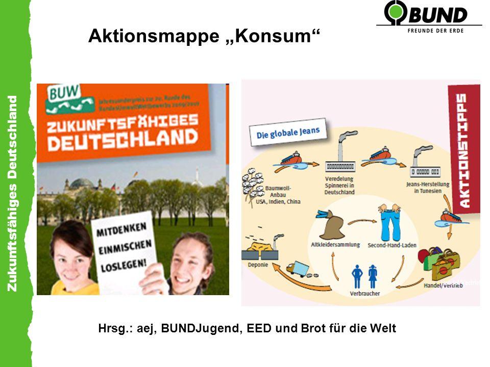 Zukunftsfähiges Deutschland Aktionsmappe Konsum Hrsg.: aej, BUNDJugend, EED und Brot für die Welt