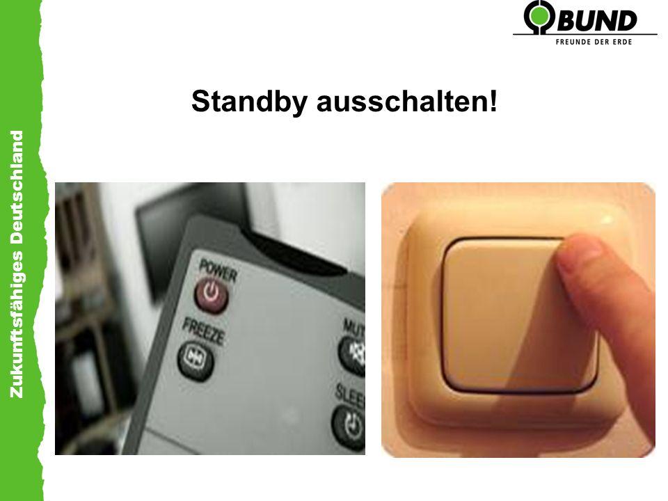 Zukunftsfähiges Deutschland Standby ausschalten!