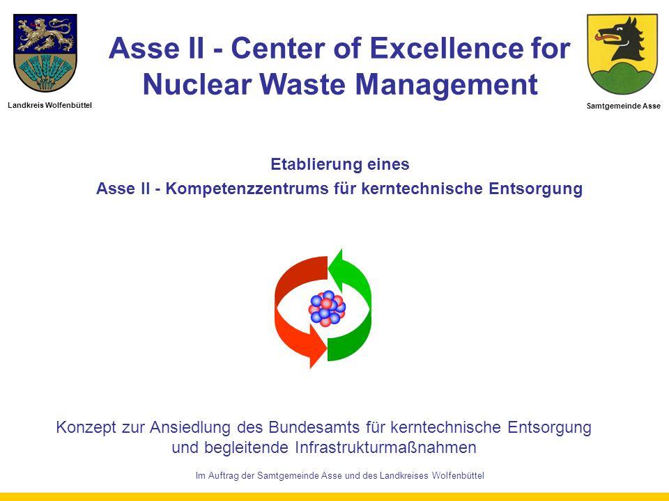 Asse II - Center of Excellence for Nuclear Waste Management Konzept zur Ansiedlung des Bundesamts für kerntechnische Entsorgung und begleitende Infras
