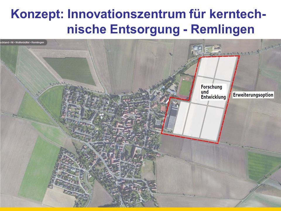 Konzept: Innovationszentrum für kerntech- nische Entsorgung - Remlingen