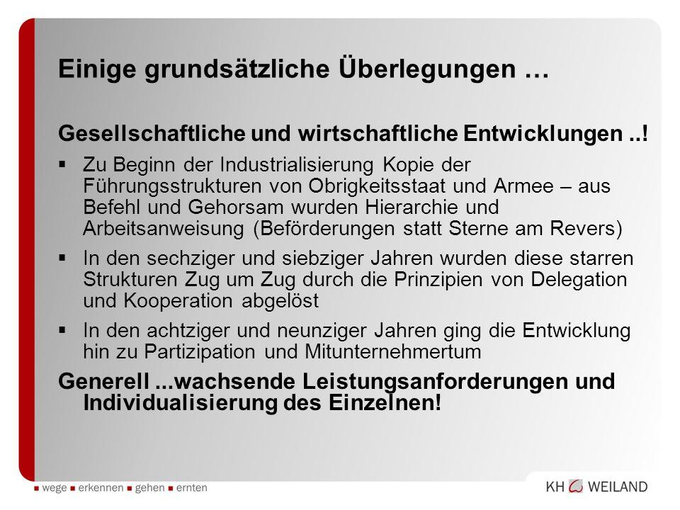 Einige grundsätzliche Überlegungen … Gesellschaftliche und wirtschaftliche Entwicklungen..! Zu Beginn der Industrialisierung Kopie der Führungsstruktu