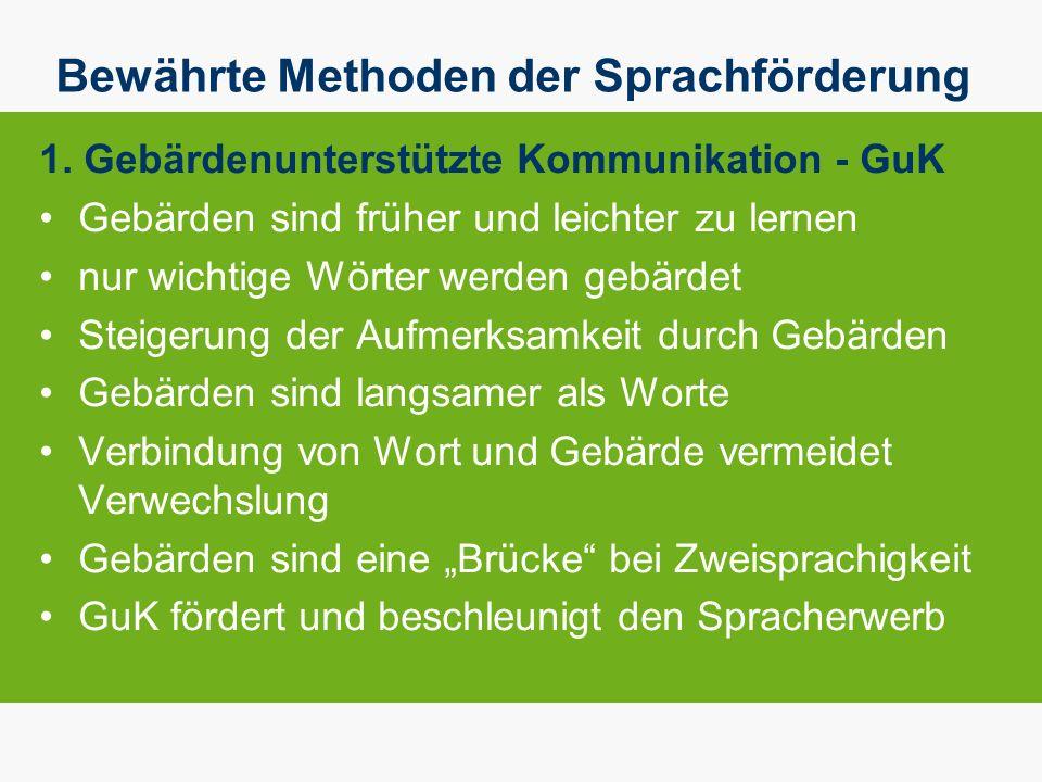 Bewährte Methoden der Sprachförderung 1.