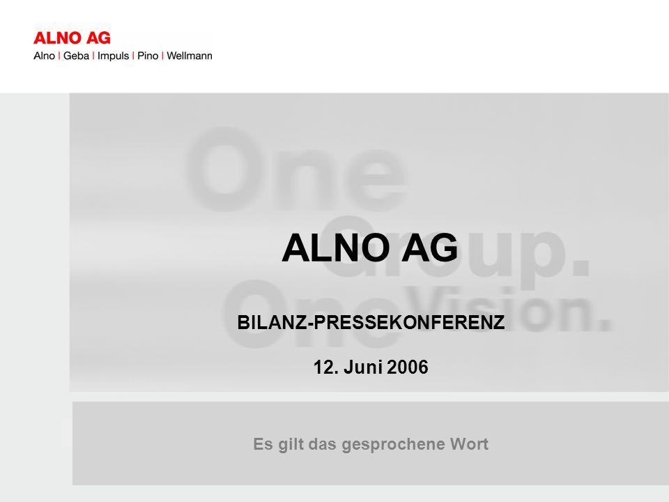 060601_BPK_Charts_Presse.ppt 1 Es gilt das gesprochene Wort ALNO AG BILANZ-PRESSEKONFERENZ 12.