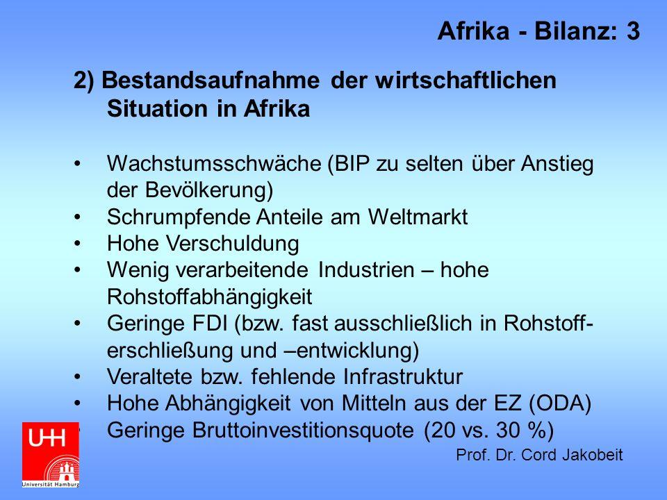 10) Kriege und bewaffnete Konflikte in Afrika 2005 1)Einleitung 2) Afrika - Bilanz: 14 Prof.
