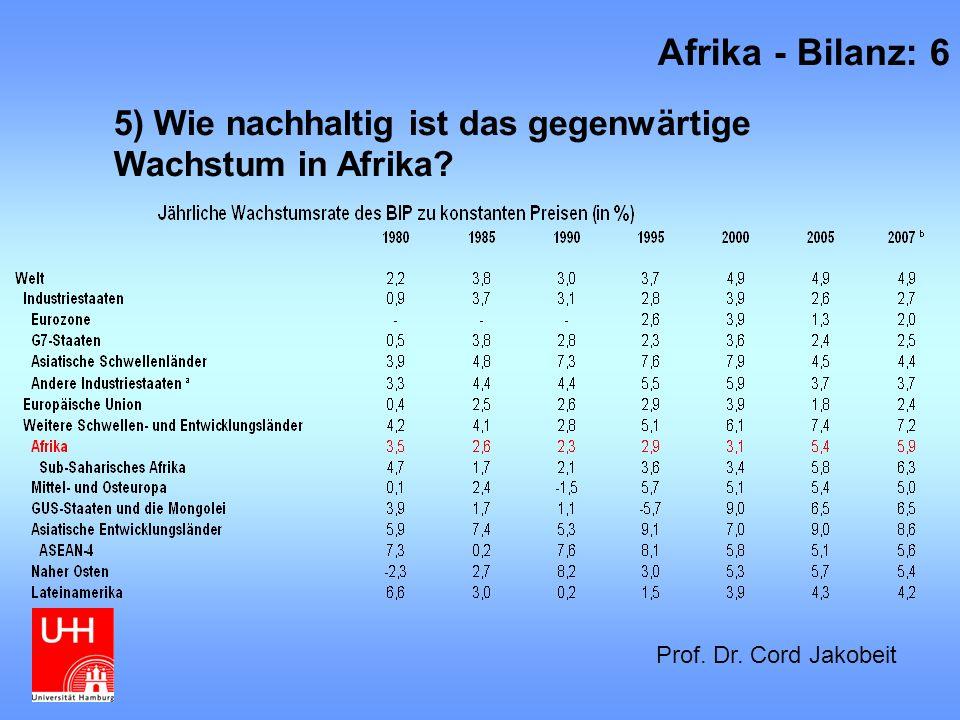 12) Entwicklung der Demokratisierung Afrika - Bilanz: 17 Prof.