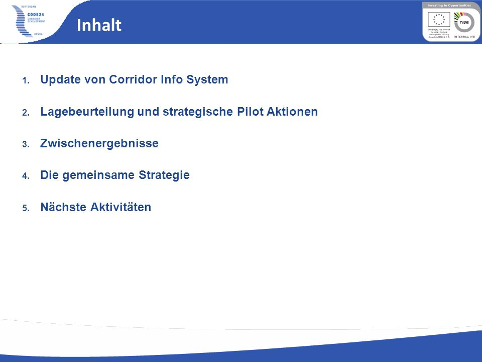 Strategy1 Frankheim Investments 1.New High Speed line Frankfurt Mannheim (85 Km) Maximum Speed 250 Km/h = total travel time 20/25 min No stop in Darmstadt (saved money 67/112 M) No By pass Mannheim (saved money 435 M) Total Costs 1280 M Euro (15 M/KM) (DB, 2005) Total costs Köln/Rhein Main 5500 M = 30M/Km 2.Renewal of brownfield areas in the Mannheim Region Available Areas ha 1475 (Inner development) Potential new Inhabitants 180000/250000 Challenges -Mannheim has to empower its position through strong choices regarding the concentration of the development in the core area and the development of a strong functional address -New role for the Ports -Also Frankfurt has to reduce the sprawling tendency: concentration on the main nodes Actors National Government /EU Regions Cities and small Communities DB