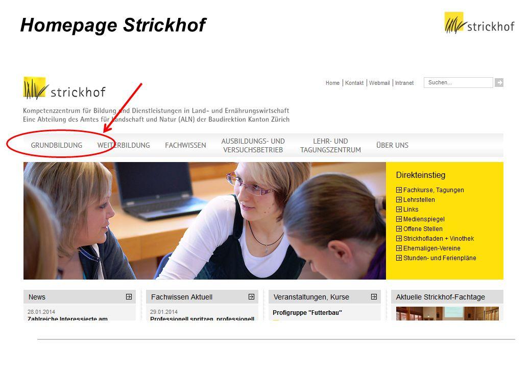 Homepage Strickhof