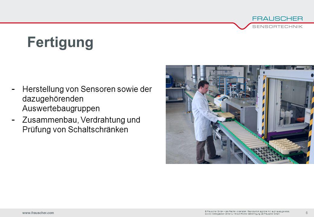 www.frauscher.com6 © Frauscher GmbH – alle Rechte vorbehalten.