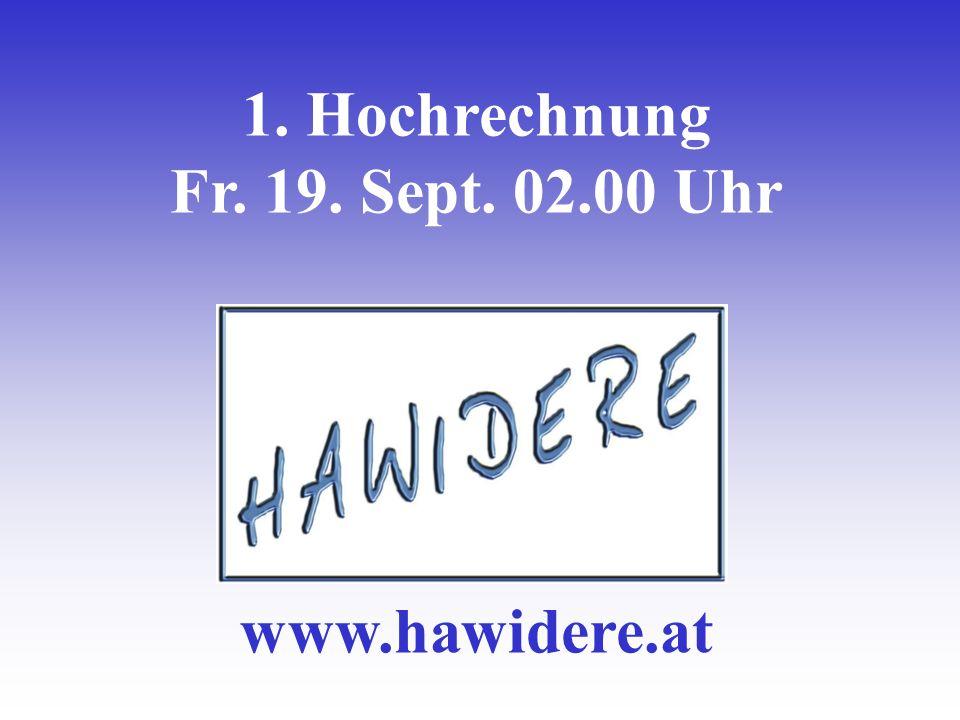 1. Hochrechnung Fr. 19. Sept. 02.00 Uhr www.hawidere.at