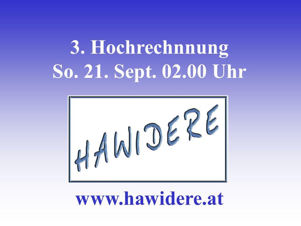 3. Hochrechnnung So. 21. Sept. 02.00 Uhr www.hawidere.at