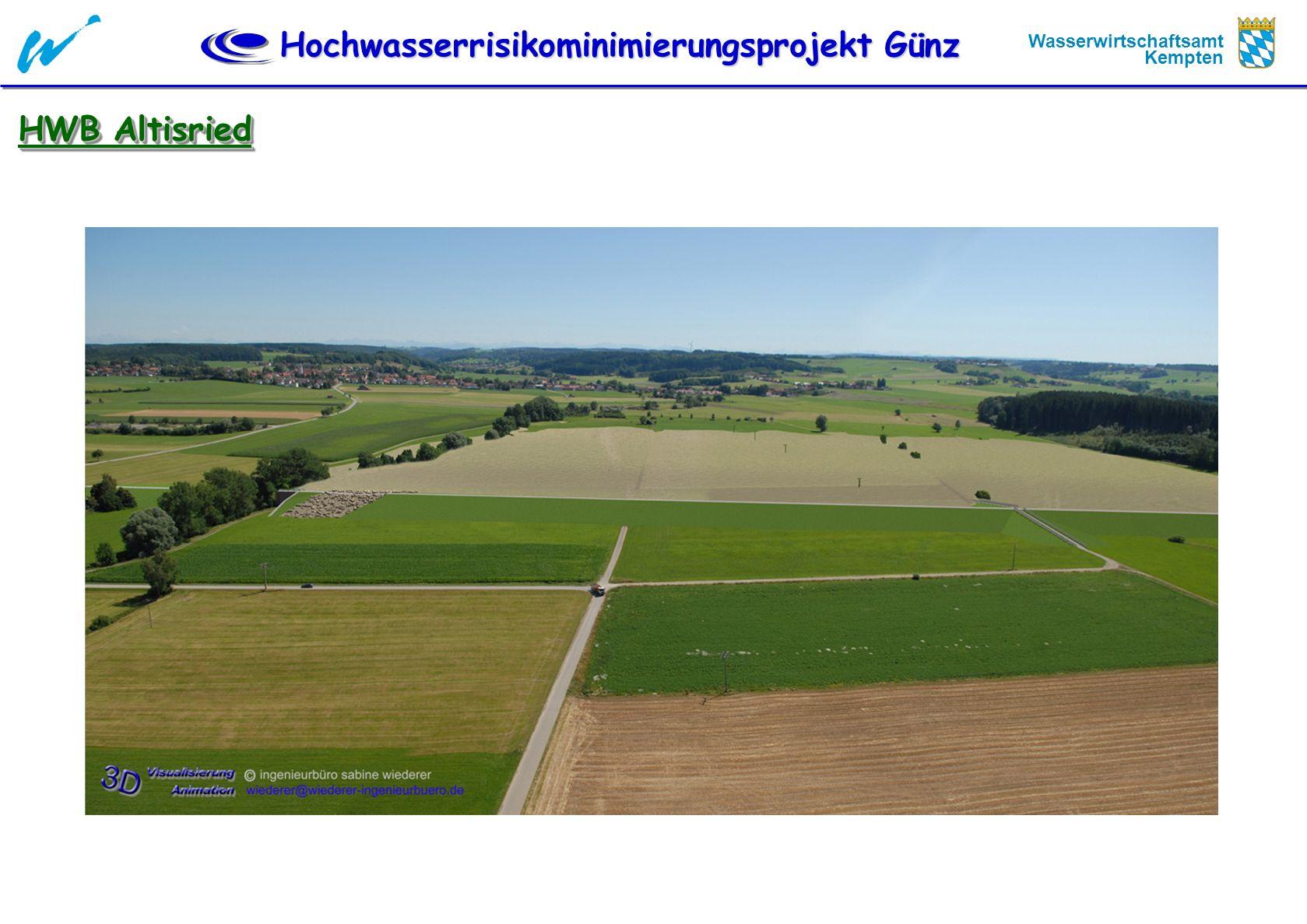 Hochwasserrisikominimierungsprojekt Günz Wasserwirtschaftsamt Kempten HWB Altisried