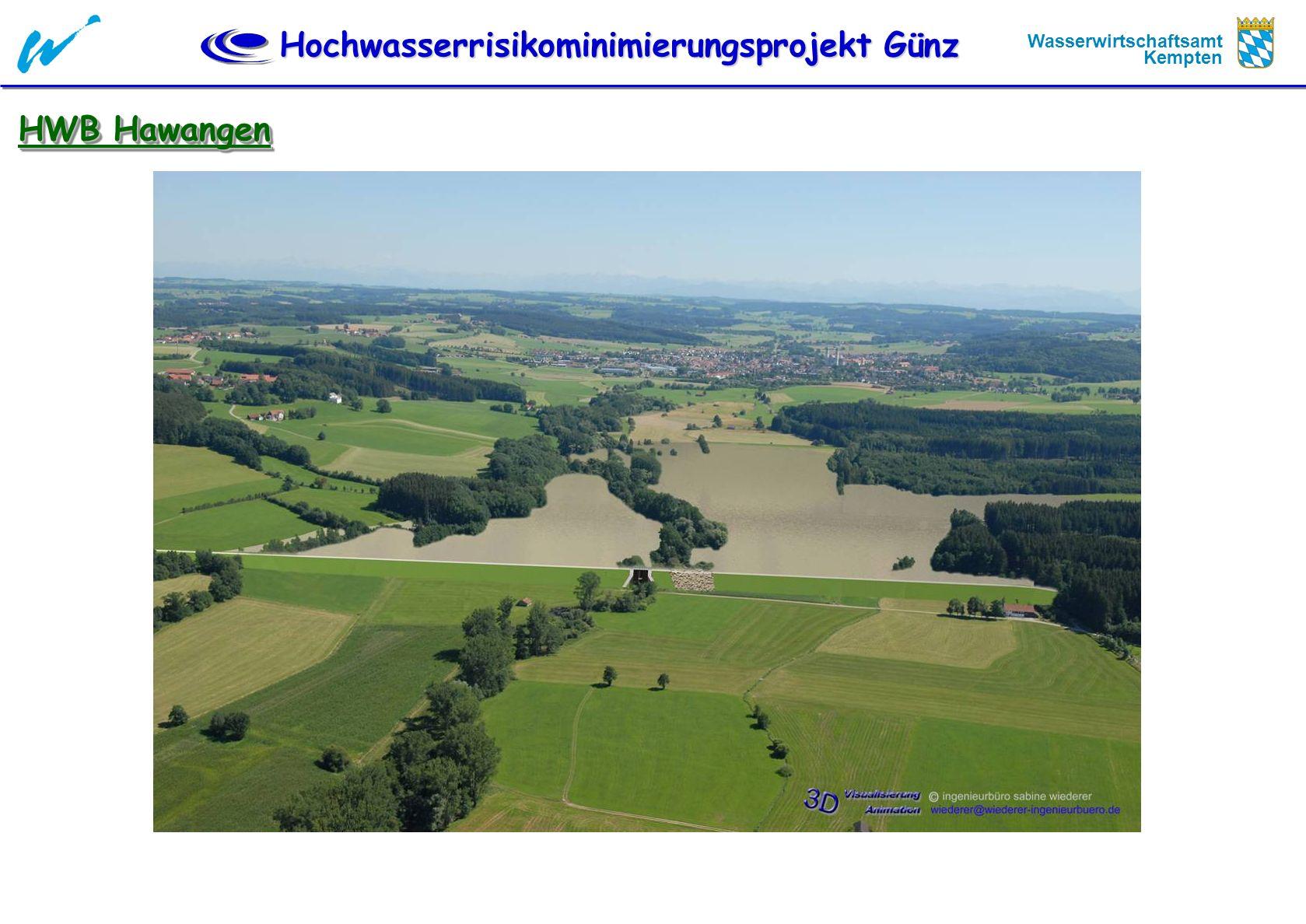 Hochwasserrisikominimierungsprojekt Günz Wasserwirtschaftsamt Kempten HWB Hawangen