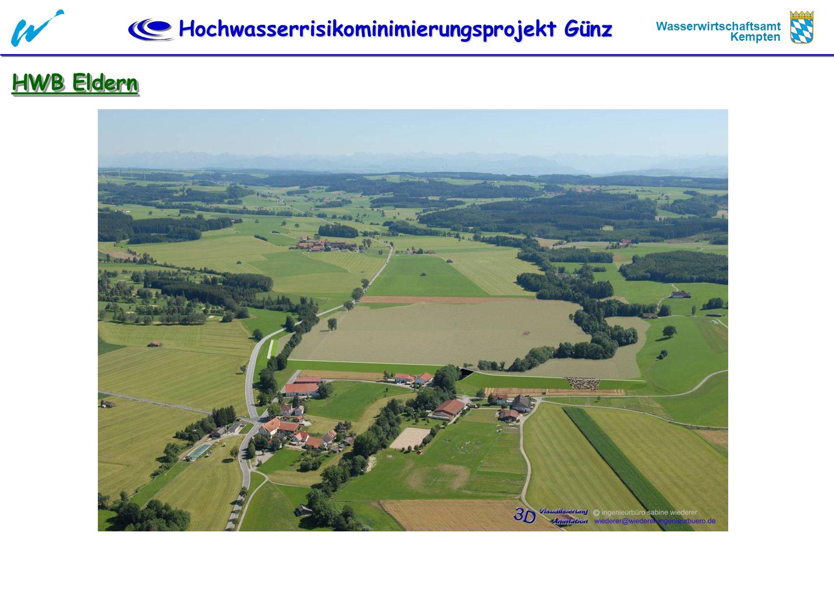 Hochwasserrisikominimierungsprojekt Günz Wasserwirtschaftsamt Kempten HWB Eldern