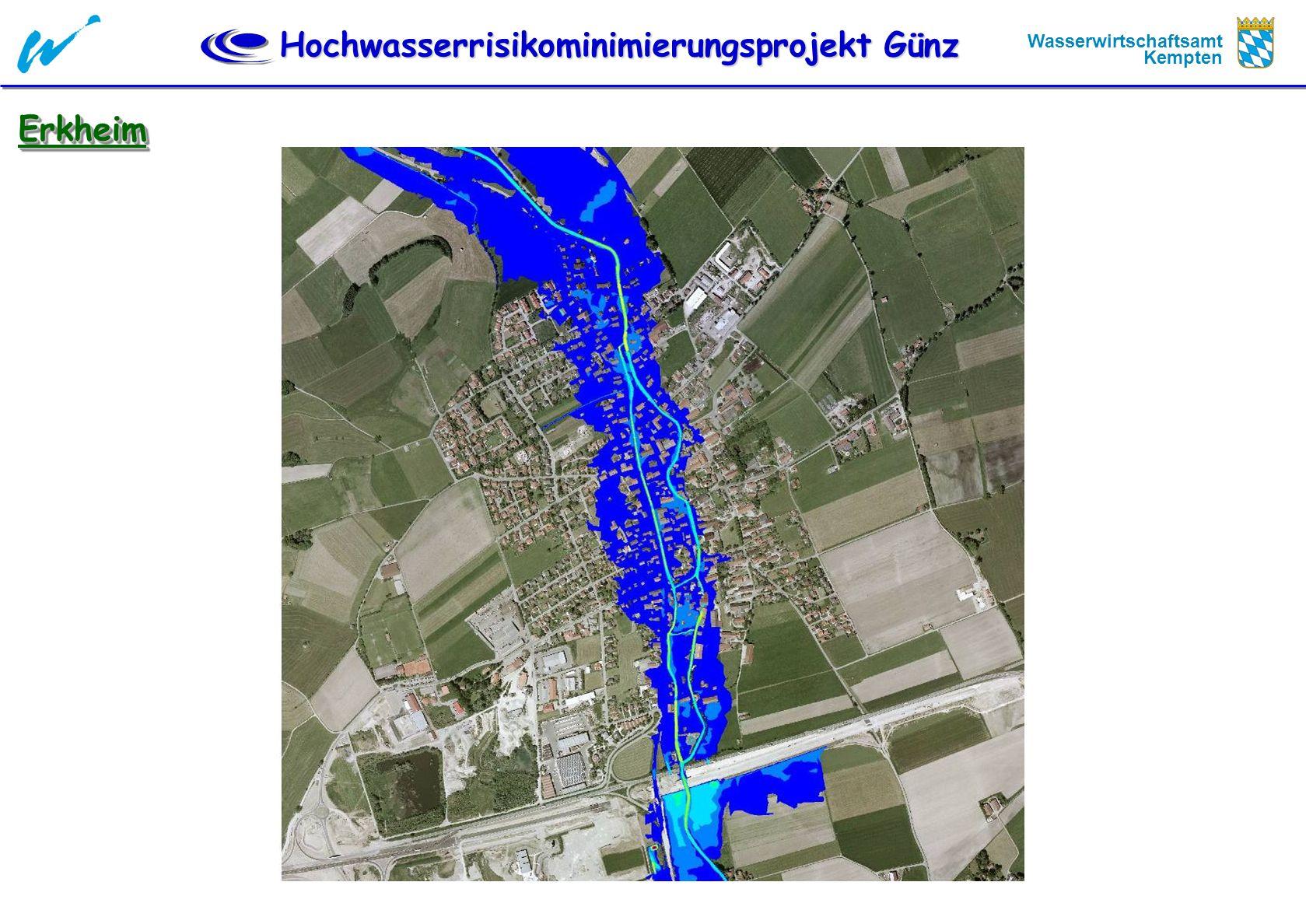 Hochwasserrisikominimierungsprojekt Günz Wasserwirtschaftsamt Kempten Örtliche Schutzmassnahmen Deisenhausen Deisenhausen Deich, 50 cm