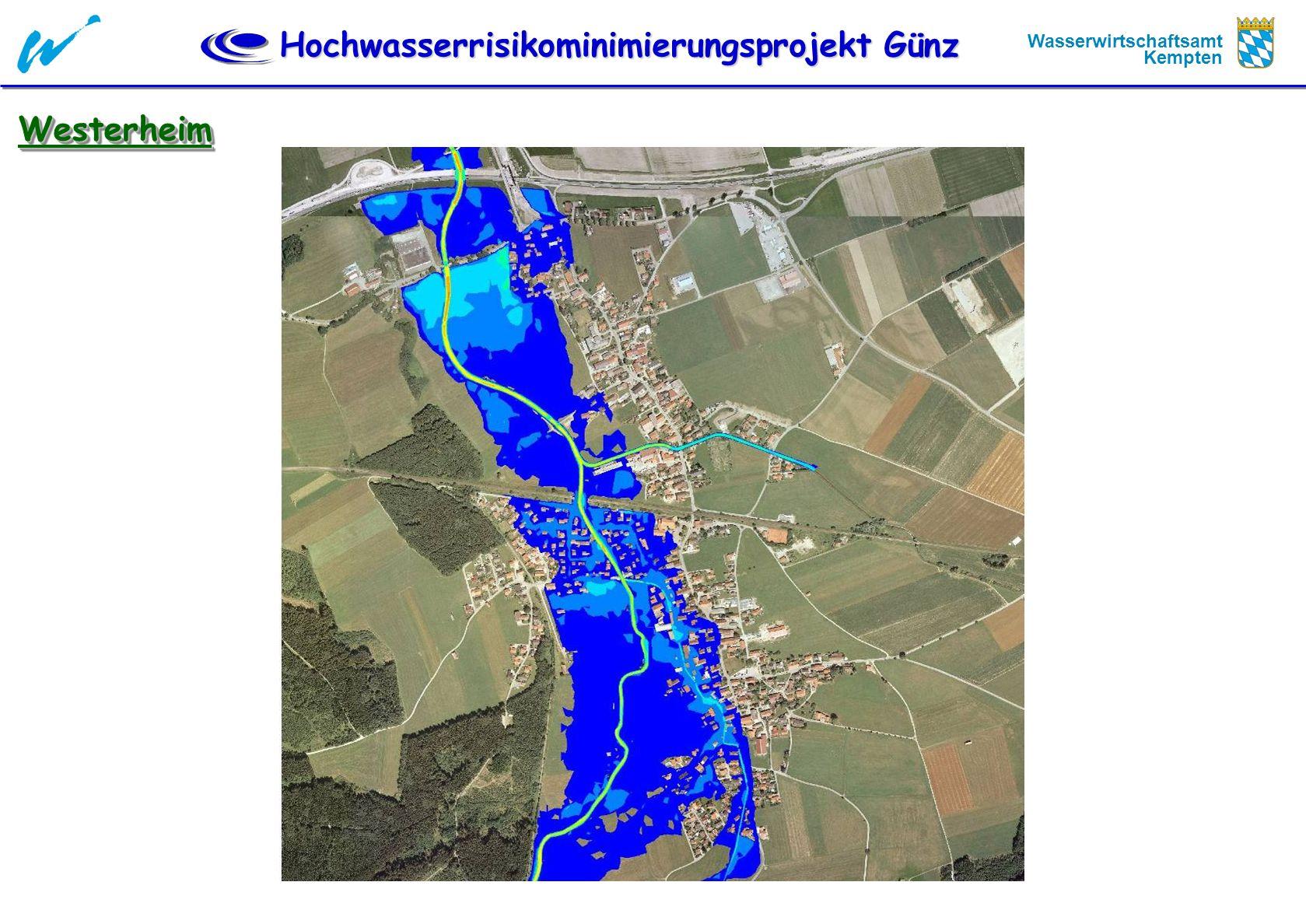 Hochwasserrisikominimierungsprojekt Günz Wasserwirtschaftsamt Kempten WesterheimWesterheim