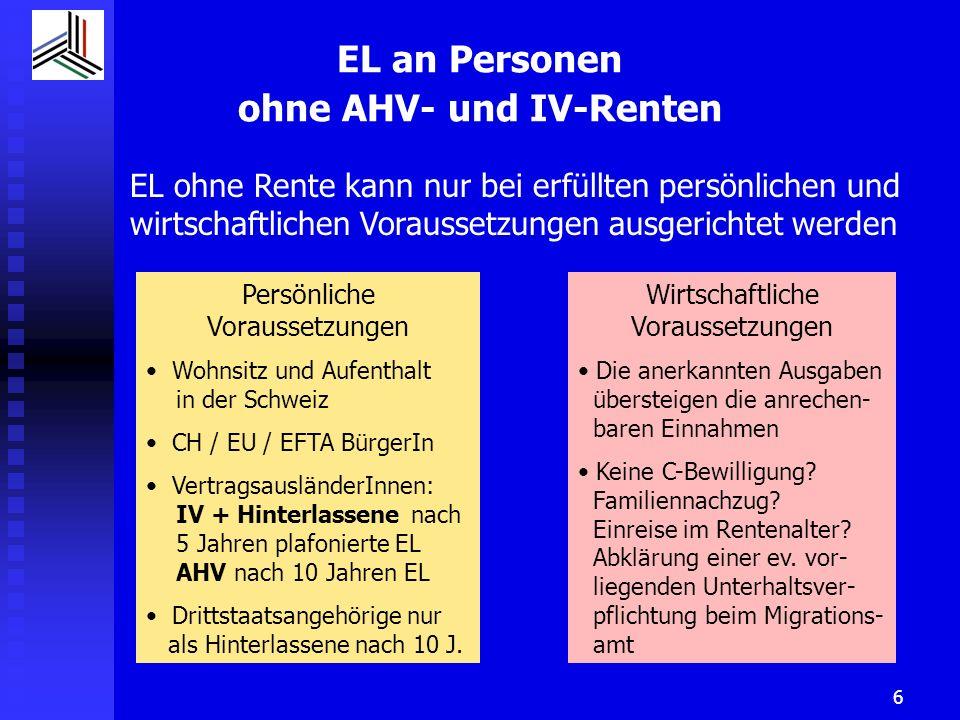 Prüfschema EL ohne Rente 1.