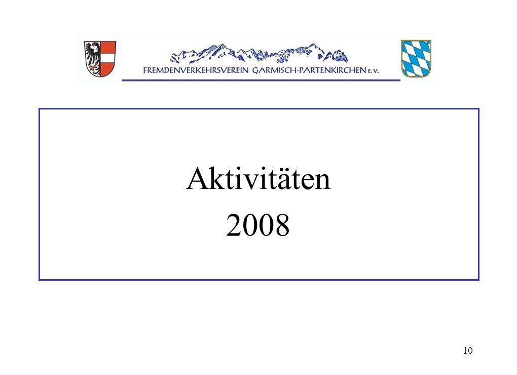 10 Aktivitäten 2008