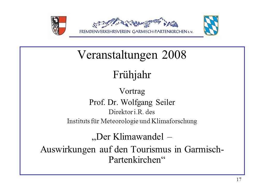 17 Veranstaltungen 2008 Frühjahr Vortrag Prof. Dr.