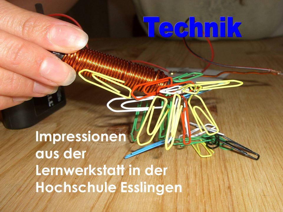 Impressionen aus der Lernwerkstatt in der Hochschule Esslingen