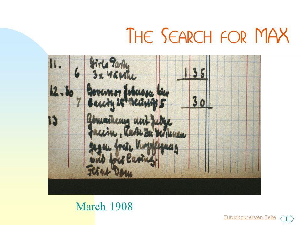 Zurück zur ersten Seite March 1908