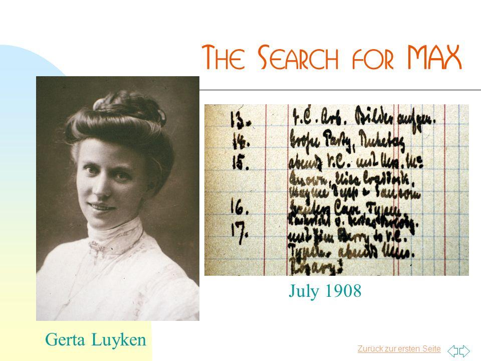 Zurück zur ersten Seite Gerta Luyken July 1908