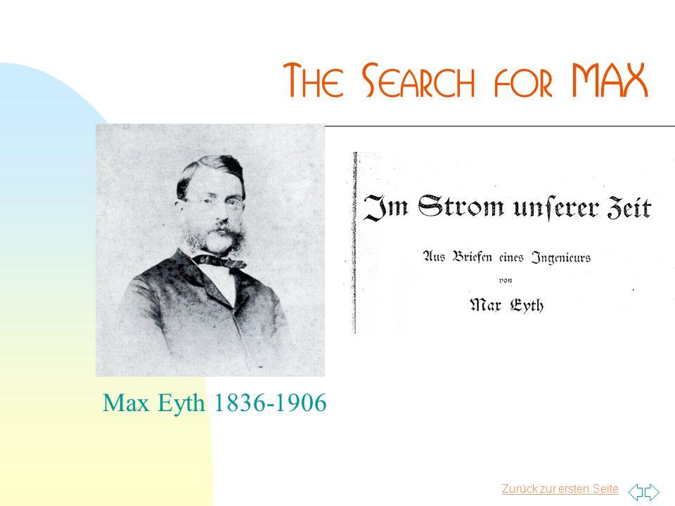 Zurück zur ersten Seite Max Eyth 1836-1906